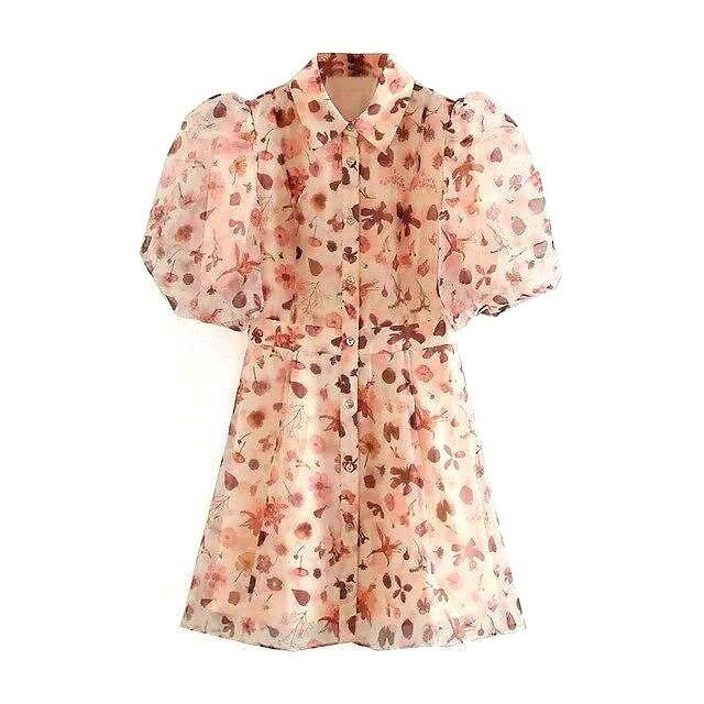 لباس با آستین پفی